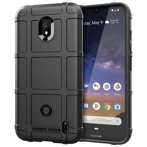 Anti-Shock Grid Texture Shockproof Case for Nokia 2.2 - Black
